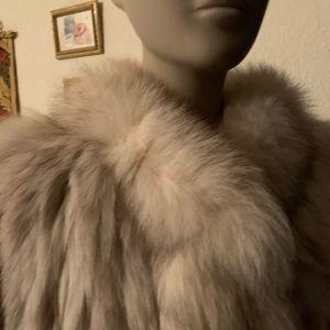 Natural Fox medium short coat Milan Furs boutique